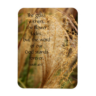 The grass withers/Pampas grass Scripture Magnet