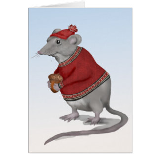 The Grateful Mouse Greeting Card