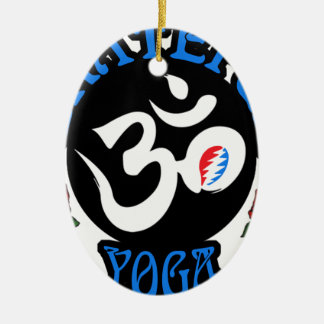 The Grateful Yoga Logo Gear Ceramic Ornament