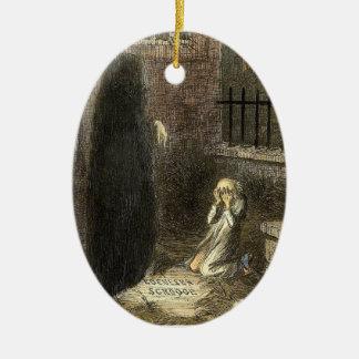 The Grave of Scrooge. Ceramic Ornament