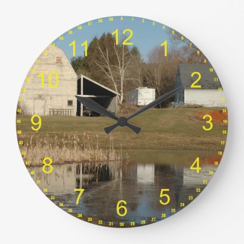 The Gray Barn Large Clock