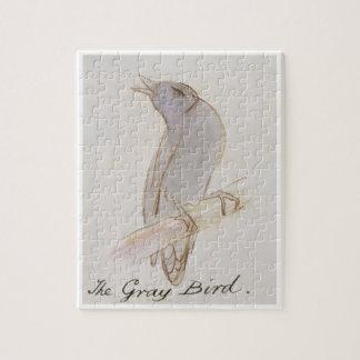 The Gray Bird, from 'Sixteen Drawings of Comic Bir Jigsaw Puzzle