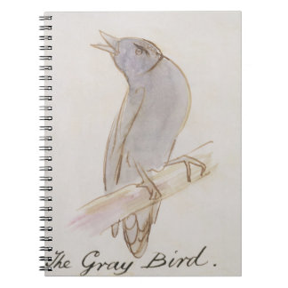 The Gray Bird, from 'Sixteen Drawings of Comic Bir Spiral Note Book