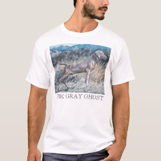 THE GRAY GHOST weimaraner t- shirt