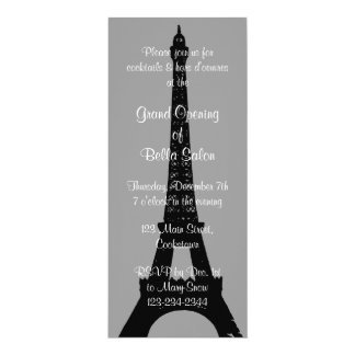 The Gray Grand Opening Evening in Paris 4x9.25 Paper Invitation Card