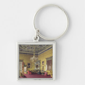 The Great Agate Hall in the Catherine Palace Silver-Colored Square Keychain