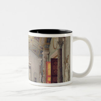 The Great Agate Hall in the Catherine Palace Two-Tone Coffee Mug