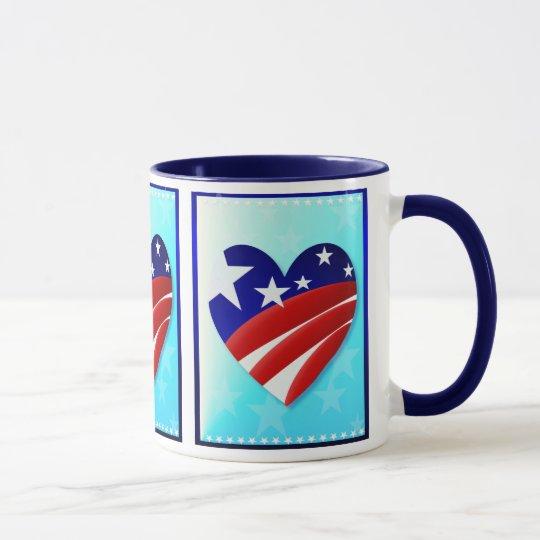 The Great American Heart  Mugs