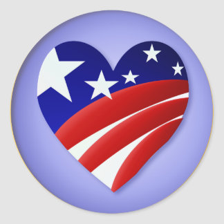 The Great American Heart  Stickers