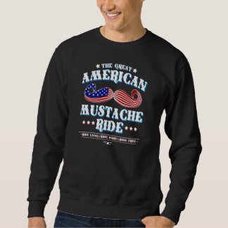 The Great American Mustache Ride Pullover Sweatshirt