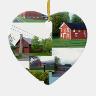 The Great American Red Barn.jpg Christmas Ornaments