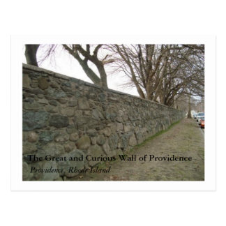The Great and Curious Wall of Providence Postcard