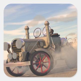 The Great Automobile Race Square Sticker