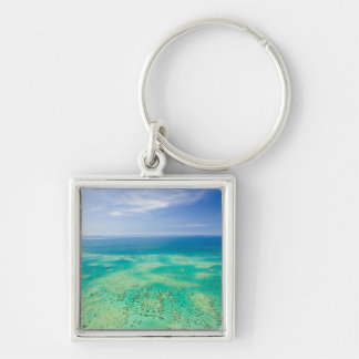 The Great Barrier Reef, aerial view of Green 2 Keychain