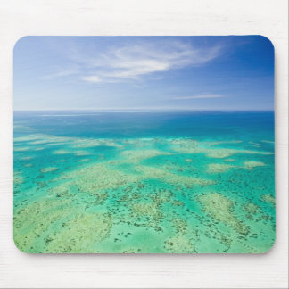 The Great Barrier Reef, aerial view of Green 2 Mouse Pad