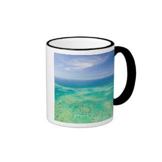 The Great Barrier Reef, aerial view of Green 2 Coffee Mug