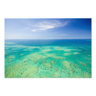 The Great Barrier Reef, aerial view of Green 2 Photo Print