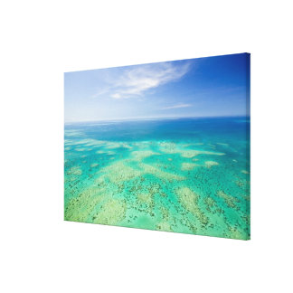 The Great Barrier Reef, aerial view of Green Canvas Print