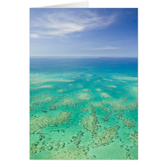 The Great Barrier Reef, aerial view of Green Card