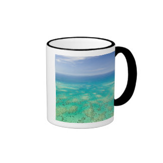 The Great Barrier Reef, aerial view of Green Coffee Mugs