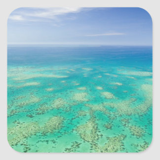 The Great Barrier Reef, aerial view of Green Square Sticker