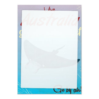 The Great Barrier Reef, Australia Travel poster 5x7 Paper Invitation Card