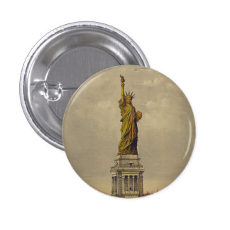The Great Bartholdi Statue by Currier & Ives 1885 Button