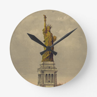 The Great Bartholdi Statue by Currier & Ives 1885 Wallclocks