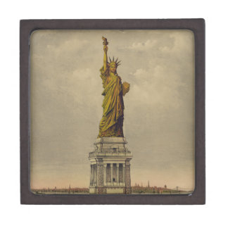 The Great Bartholdi Statue by Currier & Ives 1885 Premium Trinket Box