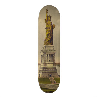The Great Bartholdi Statue by Ives 1885 Skateboard