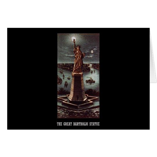 The great Bartholdi statue Card