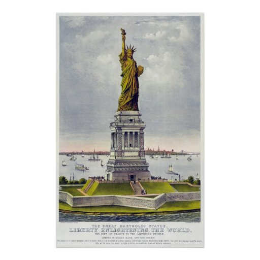 The Great Bartholdi Statue of Liberty Currie Ives Poster