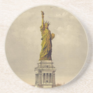 The Great Bartholdi Statue of Liberty Sandstone Coaster