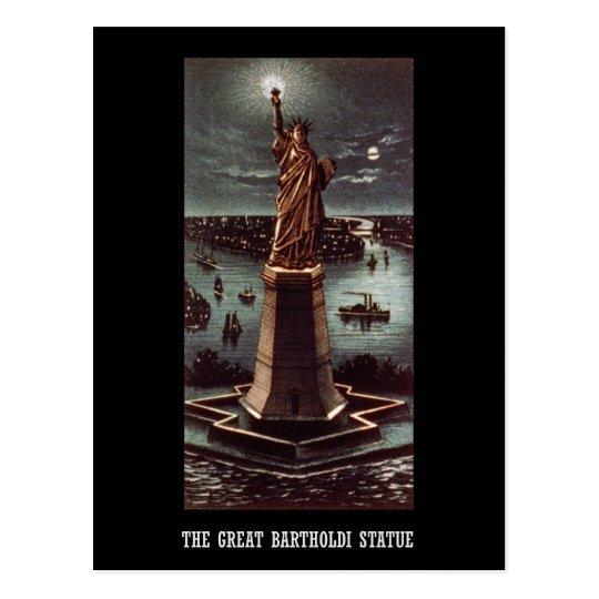 The great Bartholdi statue Postcard