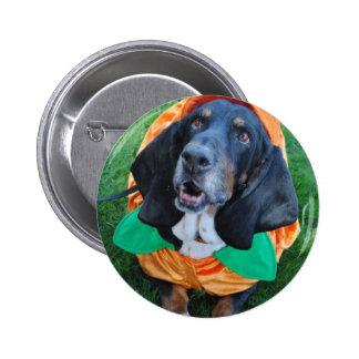 The Great Basset Hound Pumpkin Button
