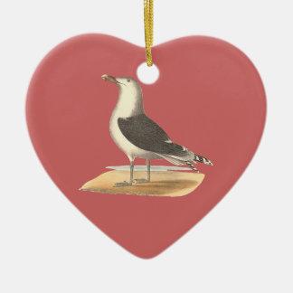 The Great Black-backed Gull(Larus marinus) Ceramic Ornament