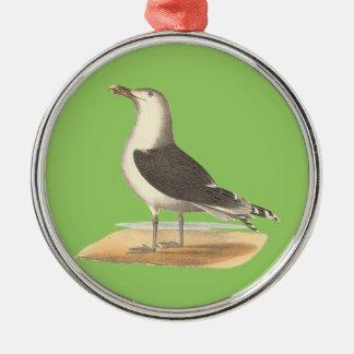 The Great Black-backed Gull(Larus marinus) Metal Ornament