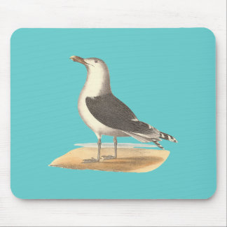 The Great Black-backed Gull(Larus marinus) Mouse Pad