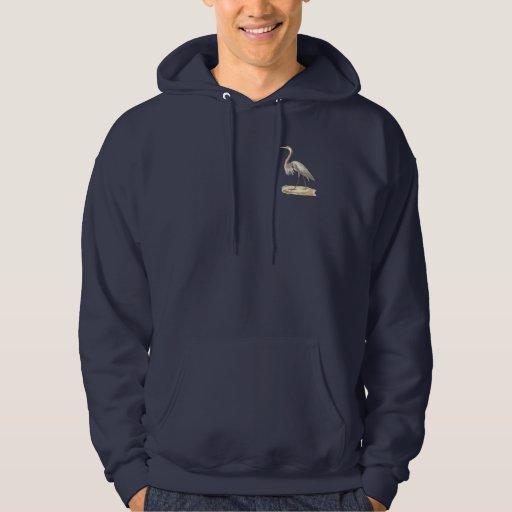 The Great Blue Heron  (Ardea herodias) Hooded Sweatshirt
