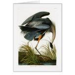 The Great Blue Heron John Audubon Birds of America Greeting Card