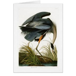 The Great Blue Heron John Audubon Birds of America Card
