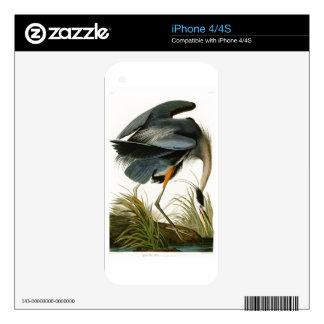 The Great Blue Heron John Audubon Birds of America iPhone 4S Skins