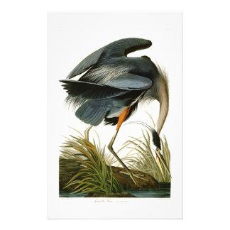 The Great Blue Heron John Audubon Birds of America Stationery