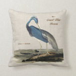 The Great Blue Heron- Poly knit Throw Pillow