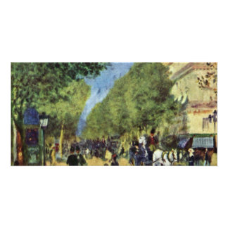 The Great Boulevards By Pierre-Auguste Renoir Photo Cards