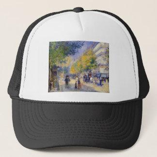 The Great Boulevards by Pierre-Auguste Renoir Trucker Hat