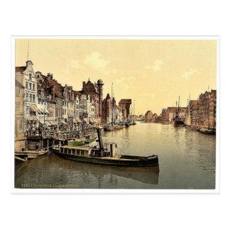 The Great Bridge Danzig West Prussia Germany i Post Card