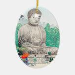 The Great Buddha at Kamakura FUJISHIMA TAKEJI Christmas Tree Ornaments