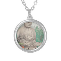 The Great Buddha at Kamakura FUJISHIMA TAKEJI Silver Plated Necklace
