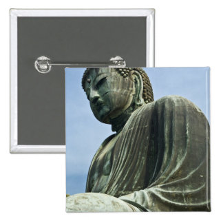 The Great Buddha of Kamakura also known as Pinback Button